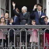 Margarita de Dinamarca con sus nietos en su 78 cumpleaños