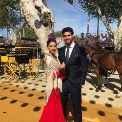 Rocío Crusset y Juan Betancourt durante la Feria de Abril 2018