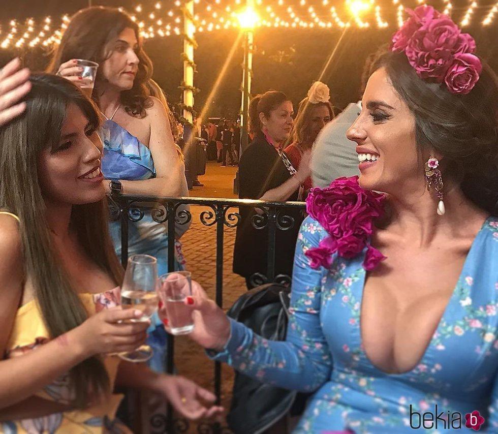 Anabel y Chabelita Pantoja disfrutando juntas de la Feria de Abril 2018