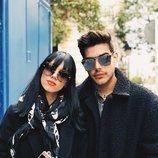 Alejandra Rubio y su novio Álvaro Lobo en plena calle