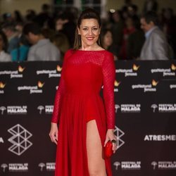 Pepa Aniorte en la alfombra roja del Festival de Málaga 2018