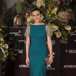 Aura Garrido posa en la alfombra roja del Festival de Málaga 2018