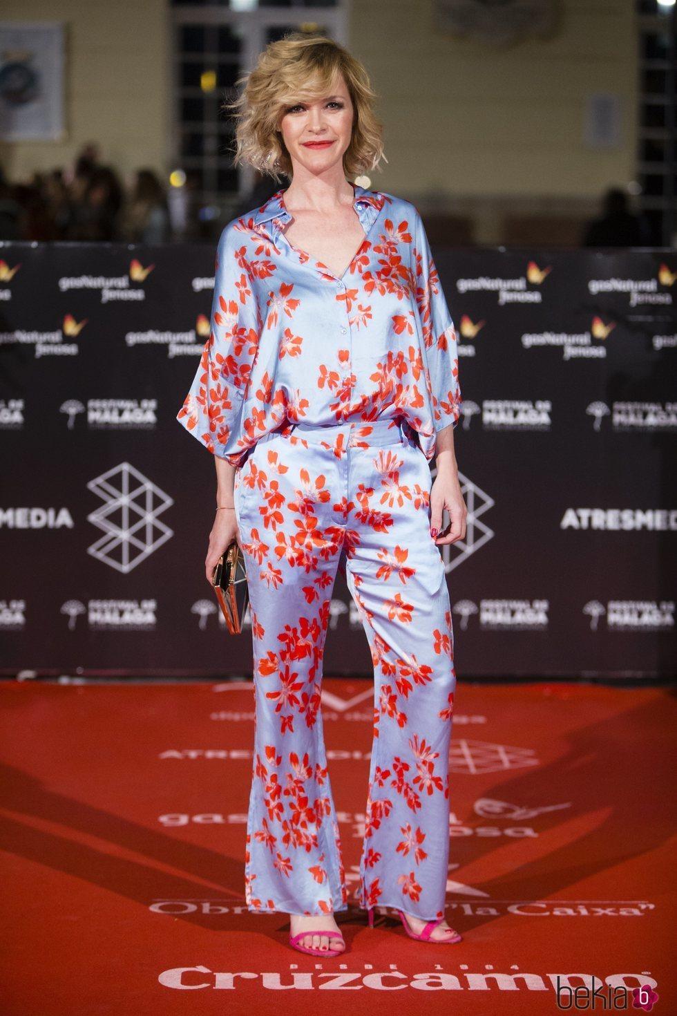 María Esteve en la alfombra roja de una de las noches del Festival de Málaga 2018