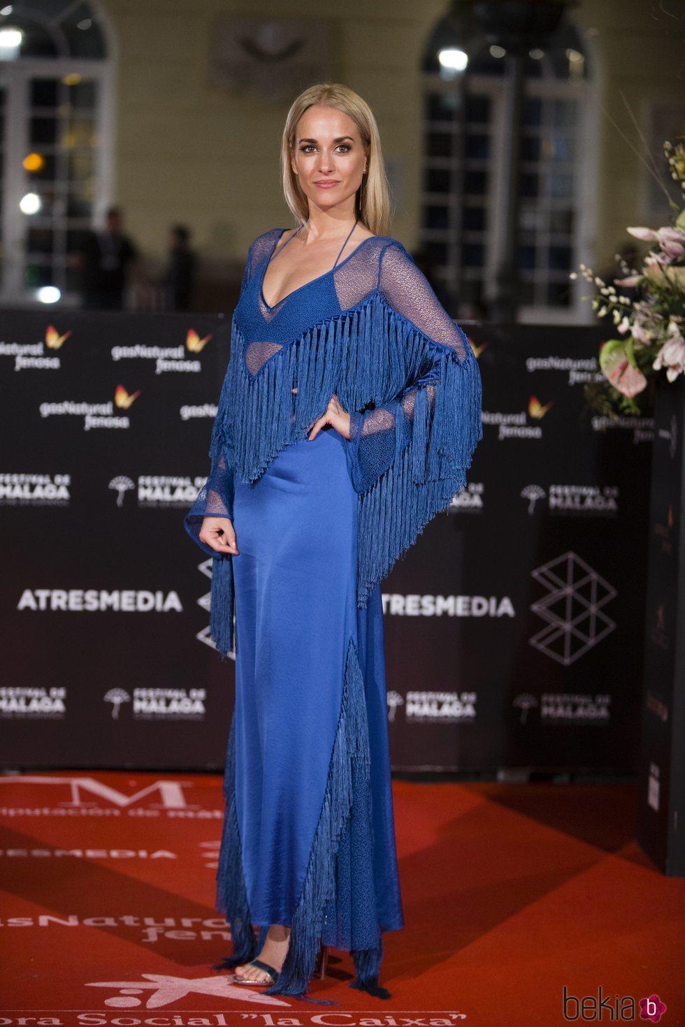 Silvia Alonso en la alfombra roja de una de las noches del Festival de Málaga 2018