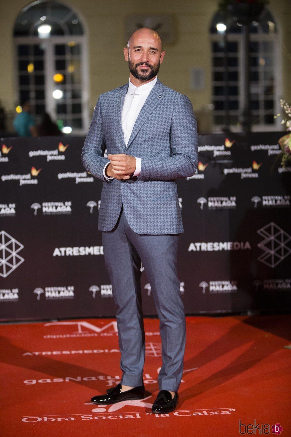 Alain Hernández en la alfombra roja de una de las noches del Festival de Málaga 2018