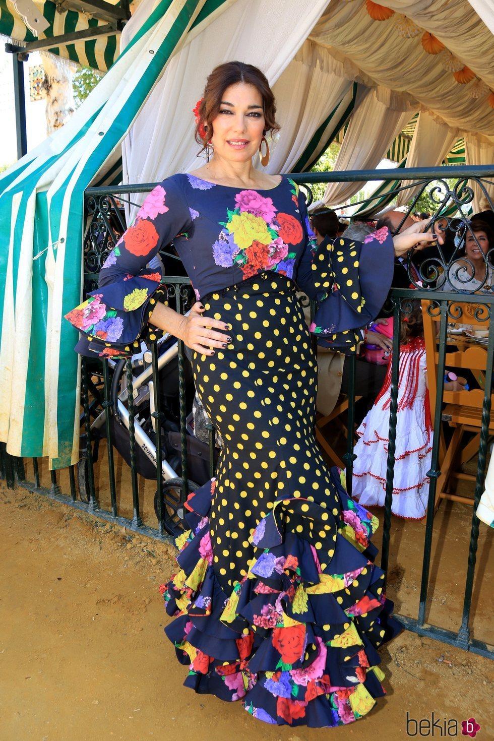 Raquel Revuelta disfrutando de la Feria de Abril 2018