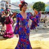 Raquel Bollo disfrutando de la Feria de Abril 2018