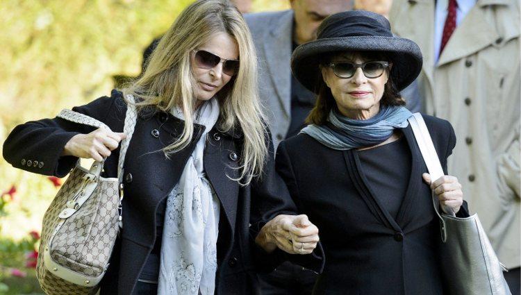 Catherine Oxenberg junto a su madre, la Princesa Isabel de Yugoslavia