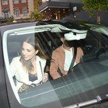 Paula Echevarría y Miguel Torres en el coche del futbolista en Málaga