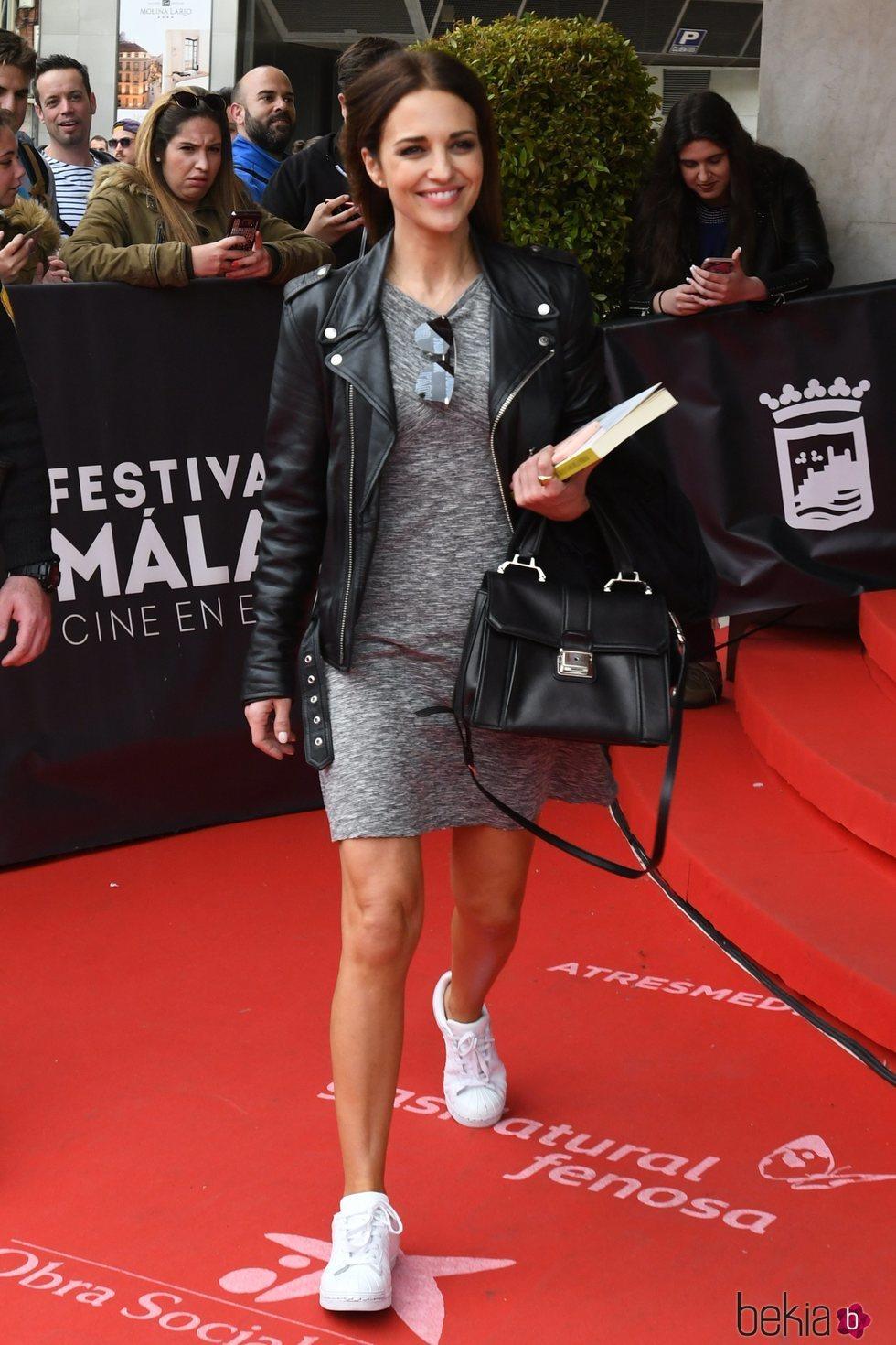 Paula Echevarría a su llegada al Festival de Cine de Málaga 2018