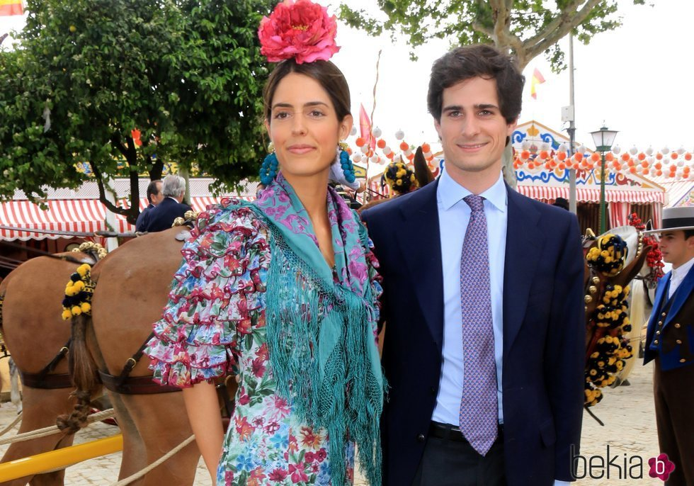 Fernando Fitz-James Stuart y Sofía Palazuelo en la Feria de Abril 2018