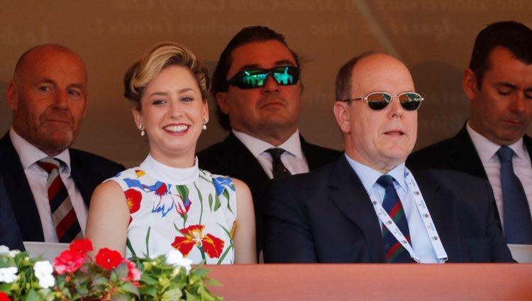 Alberto de Mónaco junto a su hija ilegítima, Jazmin Grace Grimaldi
