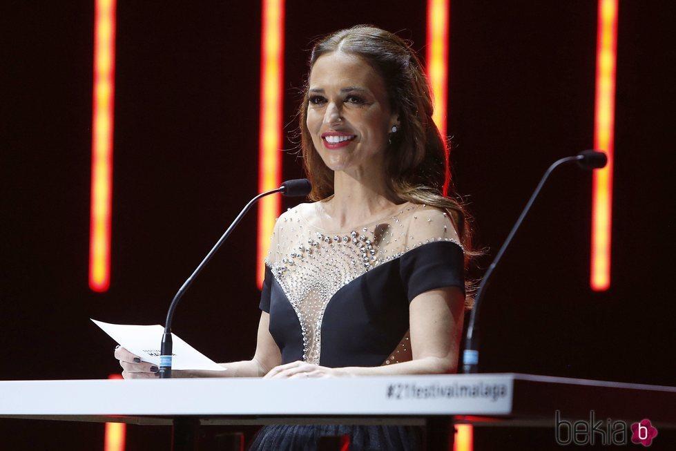 Paula Echevarría durante la Gala de Clausura del Festival de Málaga 2018