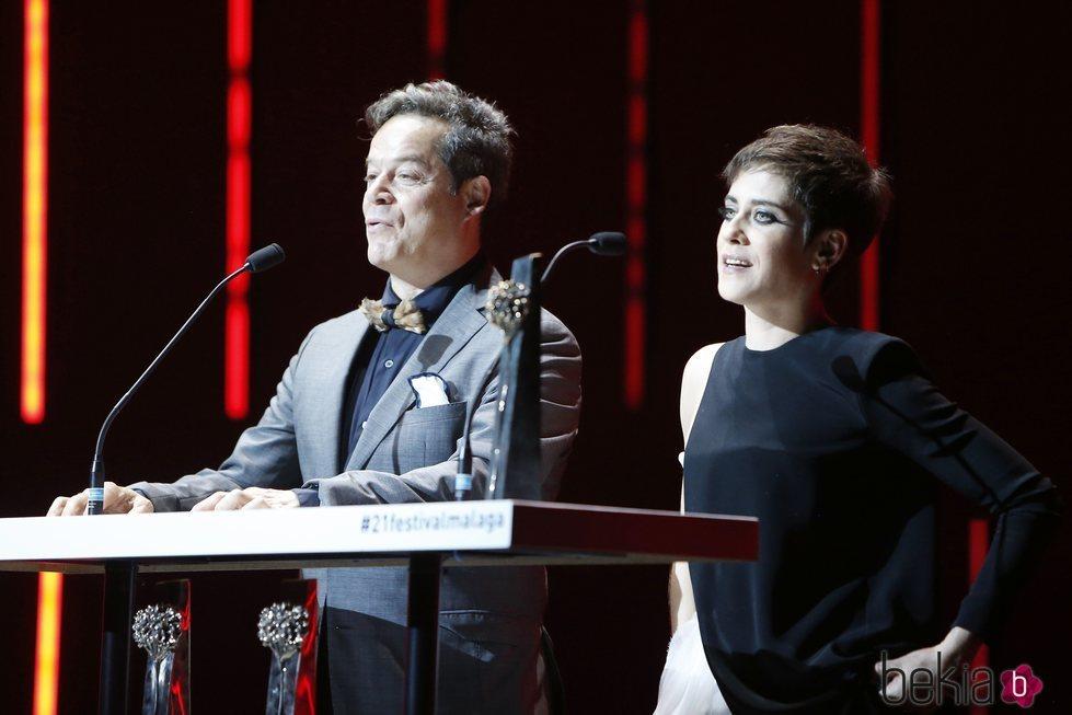 María León y Jorge Sanz durante la Gala de Clausura del Festival de Málaga 2018
