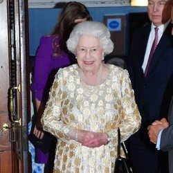 La Reina Isabel II en el concierto celebrado por su 92 cumpleaños