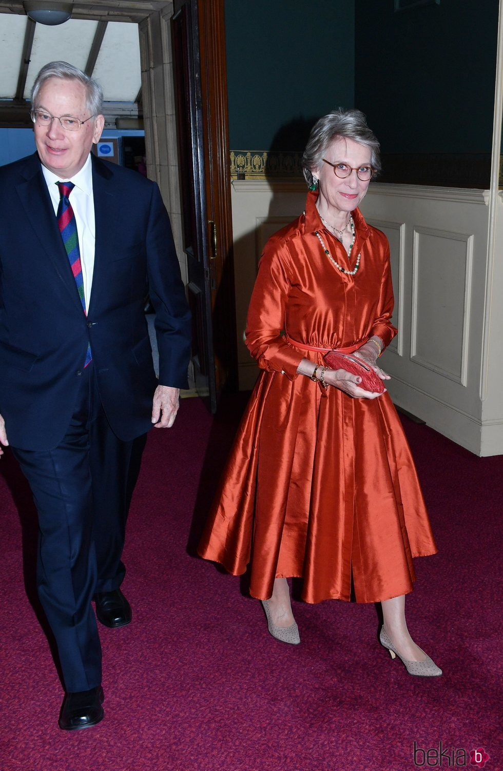Los Duques de Gloucester en el concierto del 92 cumpleaños de la Reina