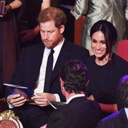 El Príncipe Harry y Meghan Markle durante el concierto del 92 cumpleaños de la Reina