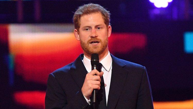 Harry de Inglaterra durante el concierto del 92 cumpleaños de la Reina