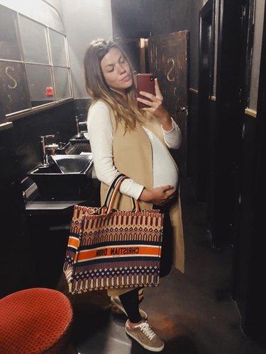 Laura Matamoros días antes de dar a luz