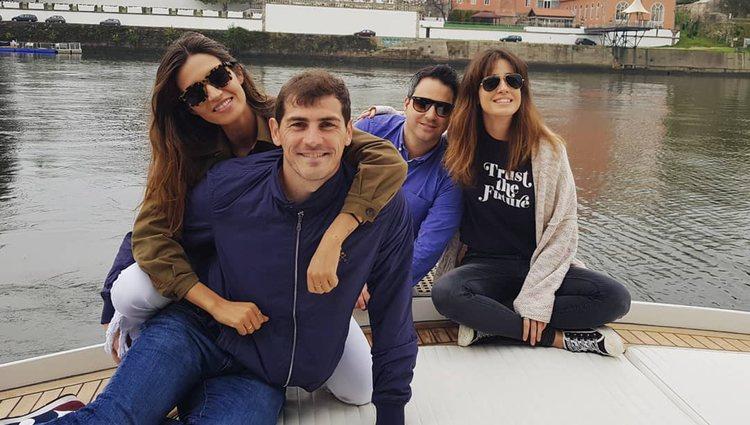 Sara Carbonero, Iker Casillas, Isabel Jiménez y su pareja juntos en Oporto