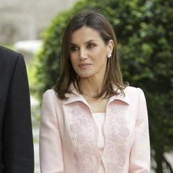 La Reina Letizia durante la entrega del Premio Cervantes 2017