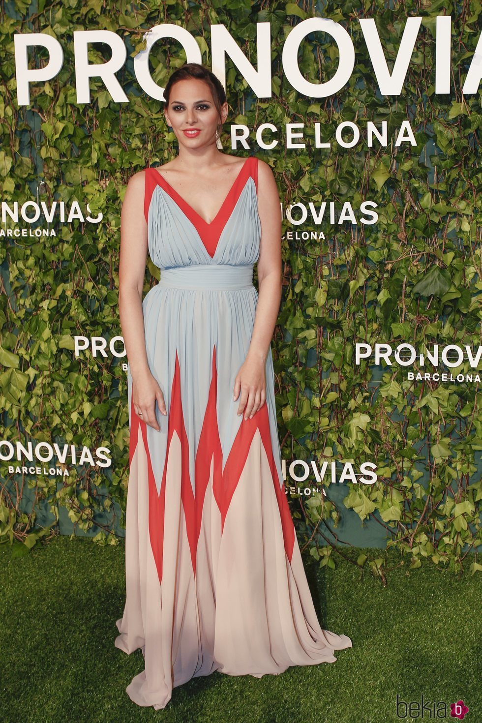 Irene Rosales en el desfile de Pronovias en la Barcelona Bridal Fashion Week 2018