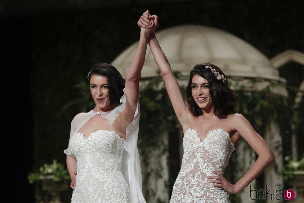 Blanca Romero y Lucía Rivera juntas en la Barcelona Bridal Fashion Week 2018