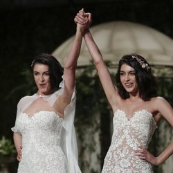 Blanca Romero y Lucía Rivera juntas en la Barcelona Bridal Fashion Week 2018