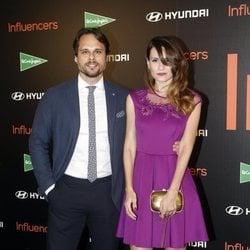 Elena Ballesteros y Juan Antonio Susarte posan juntos en el pohotocall de Influencers Awards