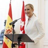 Cristina Cifuentes en su dimisión
