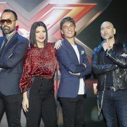 Risto Mejide, Laura Pausini, Xavi Martínez y Fernando Montesinos, miembros del jurado de 'Factor X' 2018