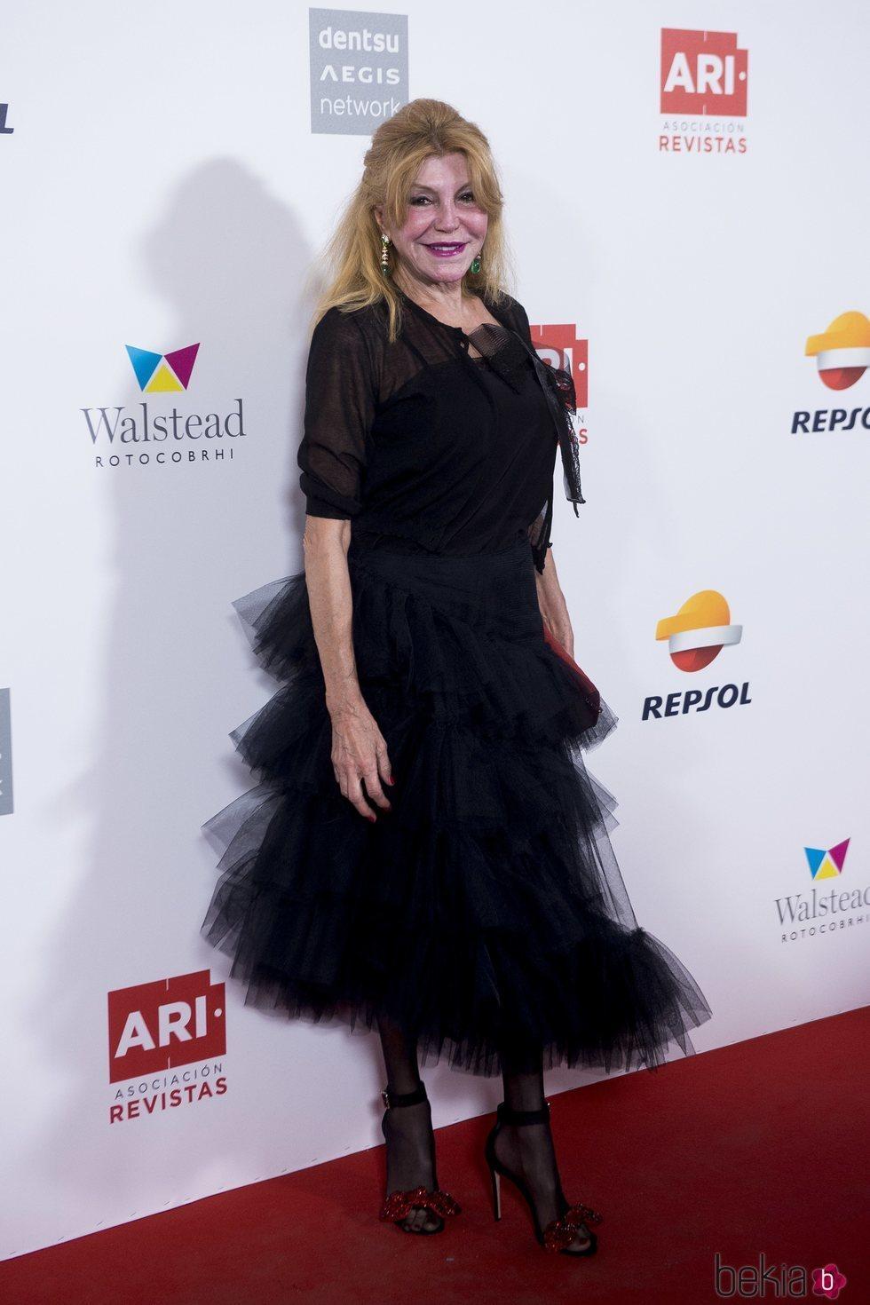 La Baronesa Thyssen en los Premios Ari 2018