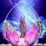 Jennifer Lopez cantando 'El anillo' durante los Premios Billboard de la Música Latina de 2018