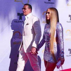 Jennifer Lopez y su novio Alex Rodríguez en los Premios Billboard de la Música Latina de 2018