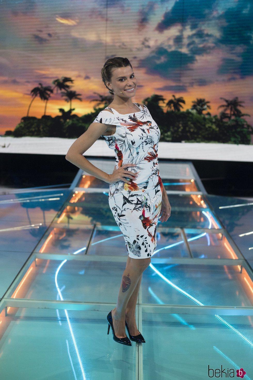 María Lapiedra posa en la gala 7 de 'Supervivientes 2018'