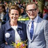 Los príncipes Bernardo y Anette de Holanda en el cumpleaños del Rey Guillermo de Holanda