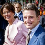 Los príncipes Maurits y Marilene de Holanda en el cumpleaños del Rey Guillermo de Holanda