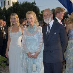 Lady Gabriella Windsor junto a sus padres, los Príncipes Michael de Kent