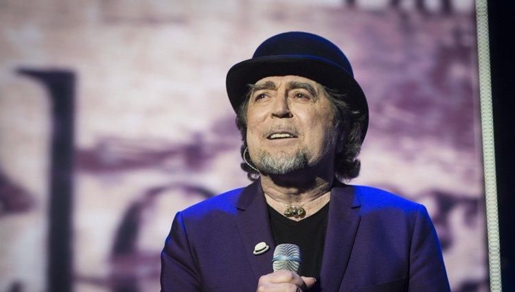 El cantante Joaquín Sabina en un concierto de 'Lo niego todo' en Madrid