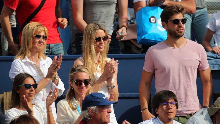 La familia de Rafa Nadal durante la semifinal del torneo de tenis Barcelona Open Banc Sabadell