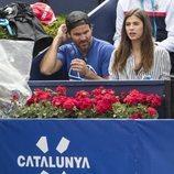 Sandra Gago disfrutando de uno de los partidos de Feliciano López