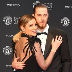 Edurne y David de Gea en la gala Manchester United Player of the Year 2018