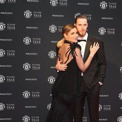 Edurne y David de Gea, muy enamorados en la gala Manchester United Player of the Year 2018