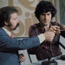 José María Íñigo con el mentalista Uri Geller