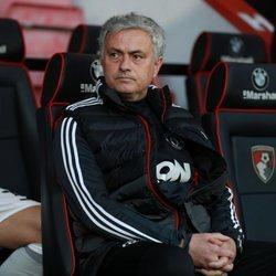 El entrenador del Manchester United José Mourinho