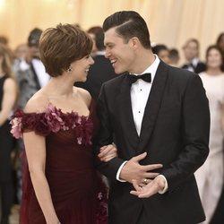 Scarlett Johansson y su novio en la alfombra roja de la Gala MET 2018