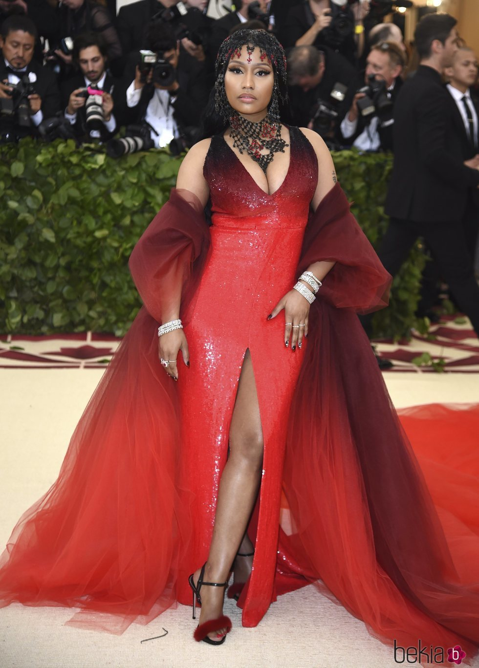 Nicki Minaj en la alfombra roja de la Gala MET 2018