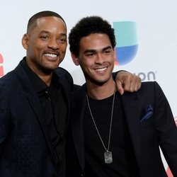 Will Smith junto a su hijo Trey Smith en los GRAMMY Latinos 2016