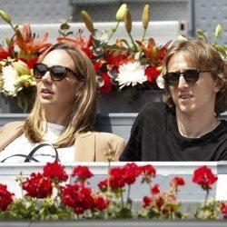 Luka Modric y Vanja Bosnic en el Madrid Open 2018