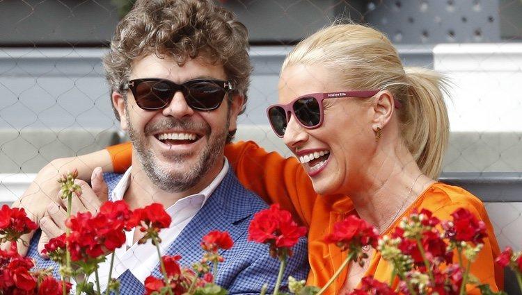 Anne Igartiburu y Pablo Heras-Casado muy sonrientes en el Madrid Open 2018
